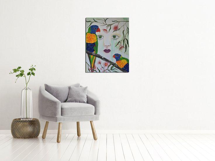 """Rainforest Deluge "" by Deborah Christensen. Paintings for Sale. Bluethumb - Online Art Gallery"