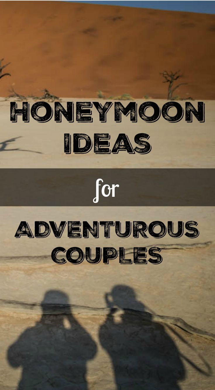 Honeymoon Ideas for Adventurous Couples. Everyone has a different idea of what makes the perfect honeymoon: for some, there's nothing better than a few weeks relaxing by the beach, whereas other couples would rather experience some adventure and excitement. http://www.divergenttravelers.com/honeymoon-ideas-adventurous-couple