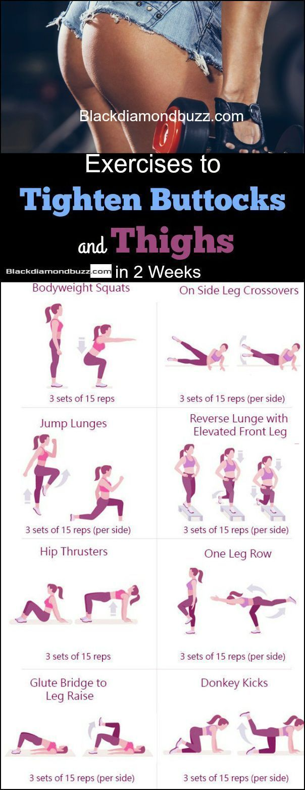Exercises to tighten buttocks and thighs in 2 weeks to get a bigger butt. Best for women who …