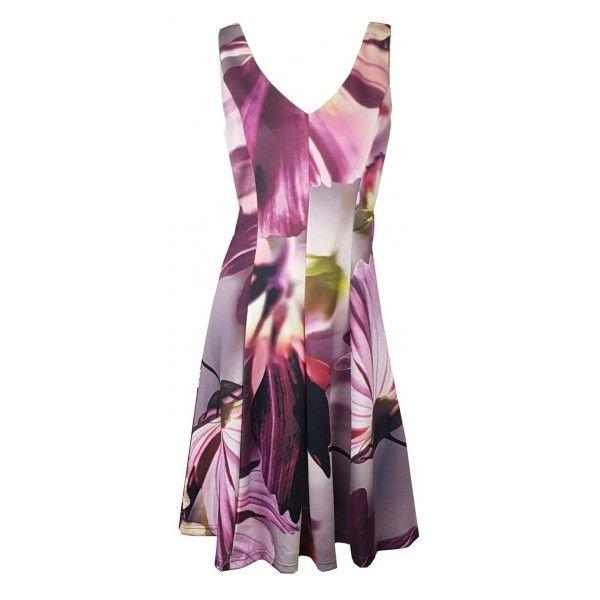 Inais Digital Floral Party Dress