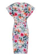 Womens **Paper Dolls Multi Coloured Kimono Dress- Pink