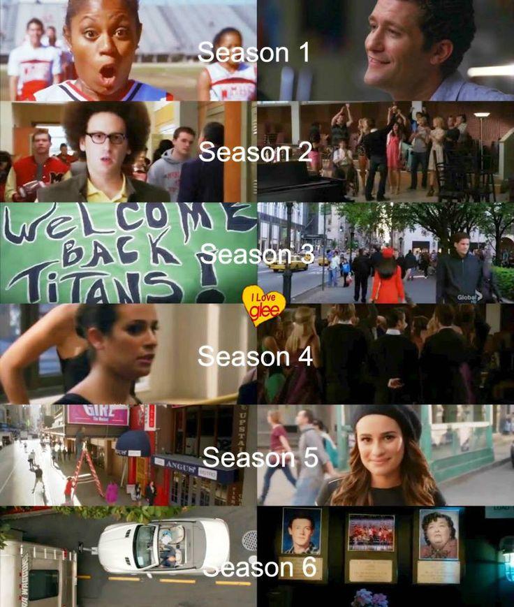 first and last scene of each Glee season