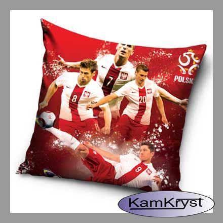 Poduszka - jasiek z piłkarzami naszej piłkarskiej kadry narodowej - rozmiar poduszki 40x40 cm - jasiek dla kibica naszej reprezentacji.