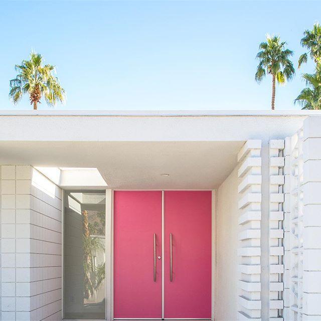 Mod House Pink Door Architecture Pinterest Doors Houseid Century Modern