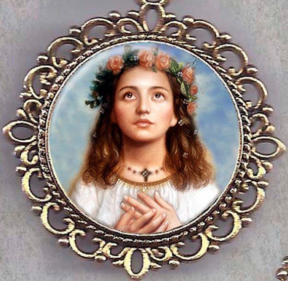 """Saint of the Day – 6 July – St Maria Goretti – Virgin and Martyr, known as """"Saint Agnes of the 20th Century"""" (16 October 1890 at Corinaldo, Ancona, Italy – choked and stabbed to death during a rape attempt on 6 July 1902 at the age of 12.)   She was Canonised on 24 June 1950 by Pope Pius XII    The ceremony was attended by 250,000 including her mother, the only time a parent has witnessed her child's canonization.   Patronages – against poverty, against the death of parents, ....."""
