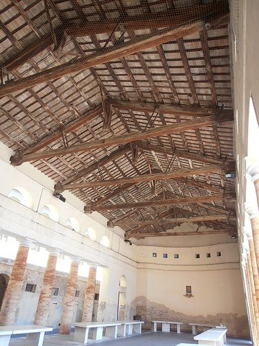 The old Senigallia fish market and it's beautiful roof