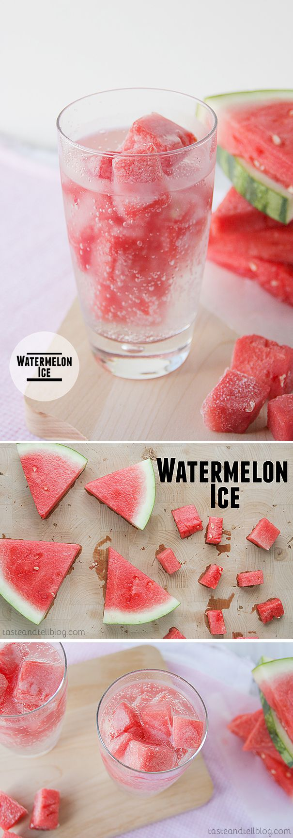 Watermelon Ice - Jazz up your summer drink with ice cubes – made of watermelon!