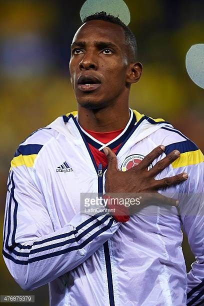 Amaranto Perea of Colombia looks on prior the International friendly match between Colombia and Tunisia at Cornella el Prat Stadium on March 5 2014...