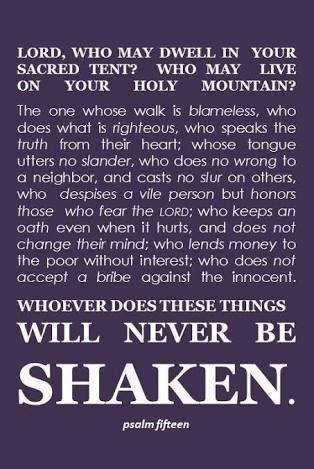 Psalm 15 (life goals)