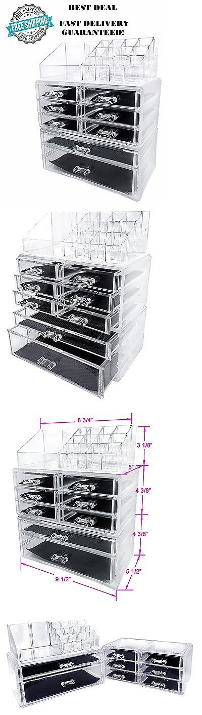 Makeup Bags and Cases: Sodynee Acrylic Makeup Cosmetic Organizer Storage Drawers Display Boxes Case New BUY IT NOW ONLY: $32.89
