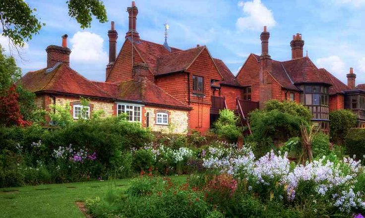 Front of Gilbert White's House with garden.  Top 10 secret gardens in the UK