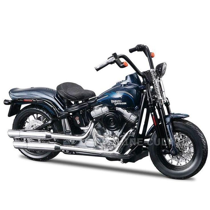 Miniatura Moto Harley-Davidson 2008 FLSTSB Cross Bones Maisto 1:18 - Machine Cult   A loja das camisetas de carro e moto
