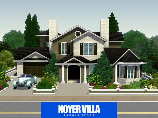 Noyer realistic French villa by Takdis Sims 3 Downloads