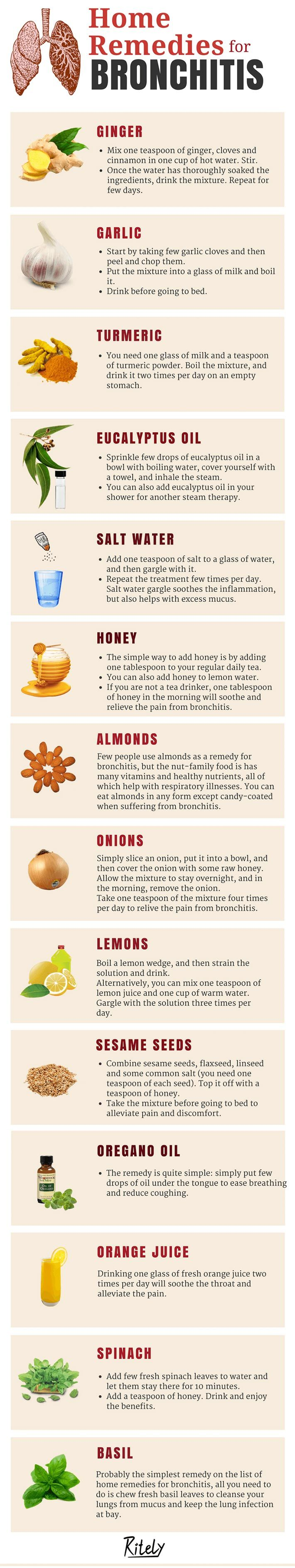Simple and Natural Home Remedies for Bronchitis!Just when you thought you were shaking the cold, you wake up in the morning with your cough worse than befor