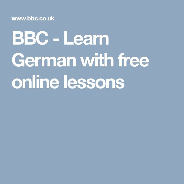 BBC Languages  Free online lessons to learn and study with