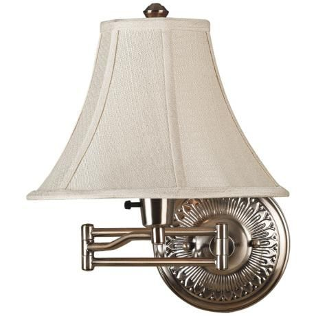 Kenroy Amherst Brushed Bronze Plug In Swing Arm Wall Light