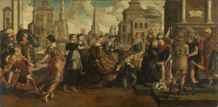 Salomo en de koningin van Sheba, Jan van Scorel, ca. 1540 - ca. 1545