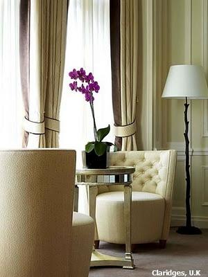 Claridges Hotel--drapes are wonderful.