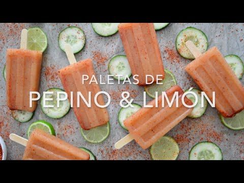 Paletas de pepino con limón y chile