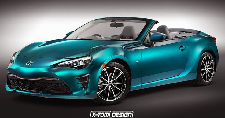 Facelifted Toyota GT 86 Convertible Is Food For Thought #Renderings #Toyota