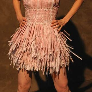 Shredded paper dress