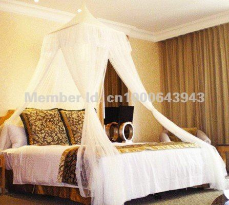 BALI RESORT Style Bed Canopy Mosquito Net Beds Canapy Bug Fly Bee Netting Mesh Bedroom Curtains