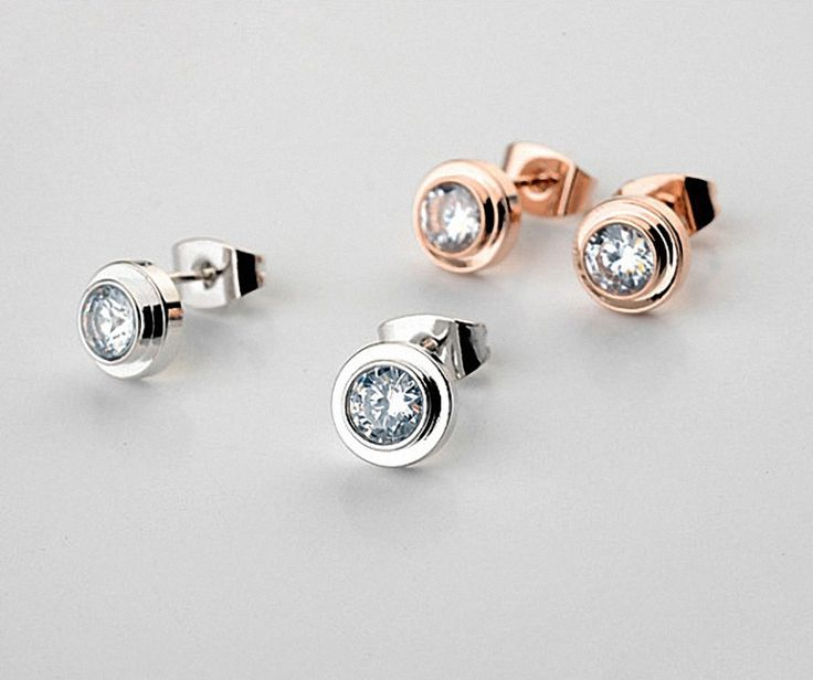 Real Italina Stud Earrings for women  Austrian Crystal  Gold Plated   New Sale Hot Brand # RG881142White