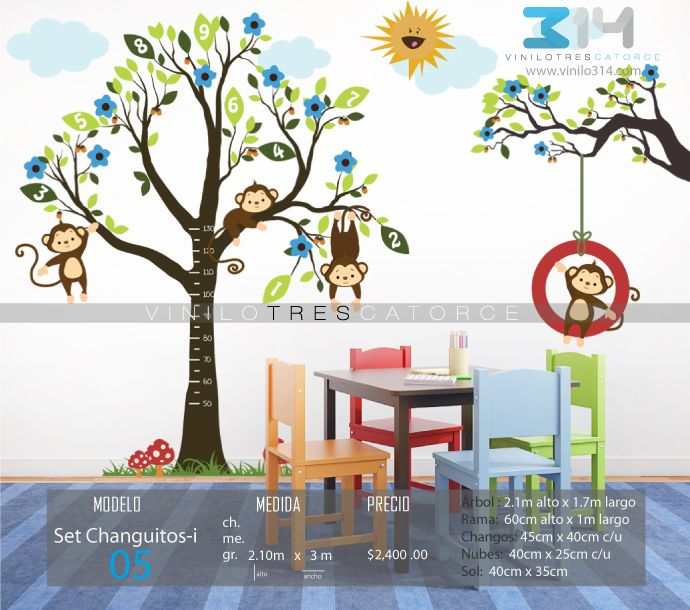 42 best images about vinilos decorativos arboles for Pegatinas pared arbol infantil