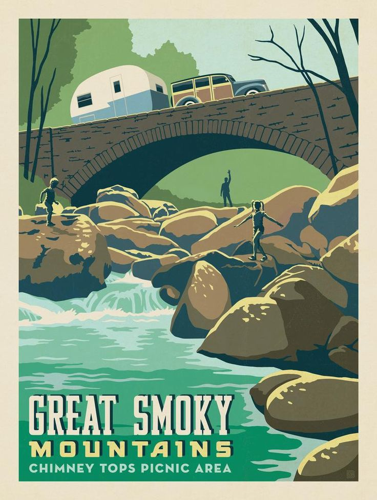 Anderson Design Group – American National Parks – Great Smoky Mountain National Park: Rock Hopping