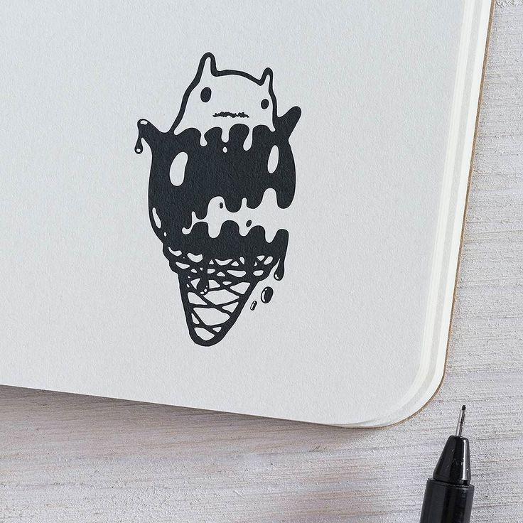 Ice Cream - 'Fear Not' Series. #illustration #draw #inkdraw #penandink #graphic #design #blackwork