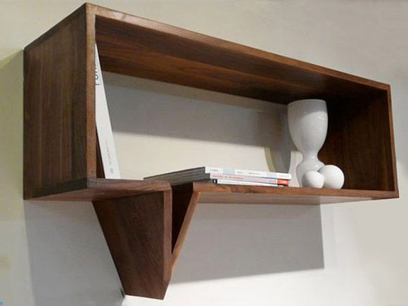 """""""Inspired by the comic text graphic, the drawings are brought to life with this clever wall shelf."""""""