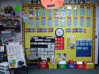 Little Miss Kindergarten - Lessons from the Little Red Schoolhouse!: More Math Wall
