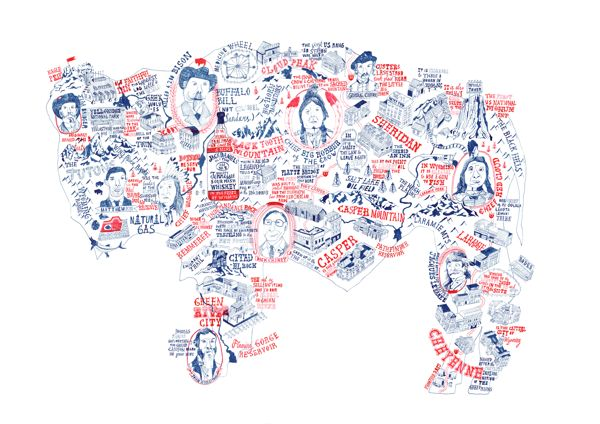 Buffalo Map by Stuart Hill