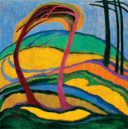 MATTIS TEUTSCH János: Landscape, 1917