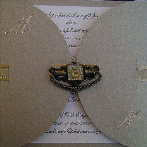 Ref Kgaogelo Hinge ( we can do any colour) www.weddingcards.co.za