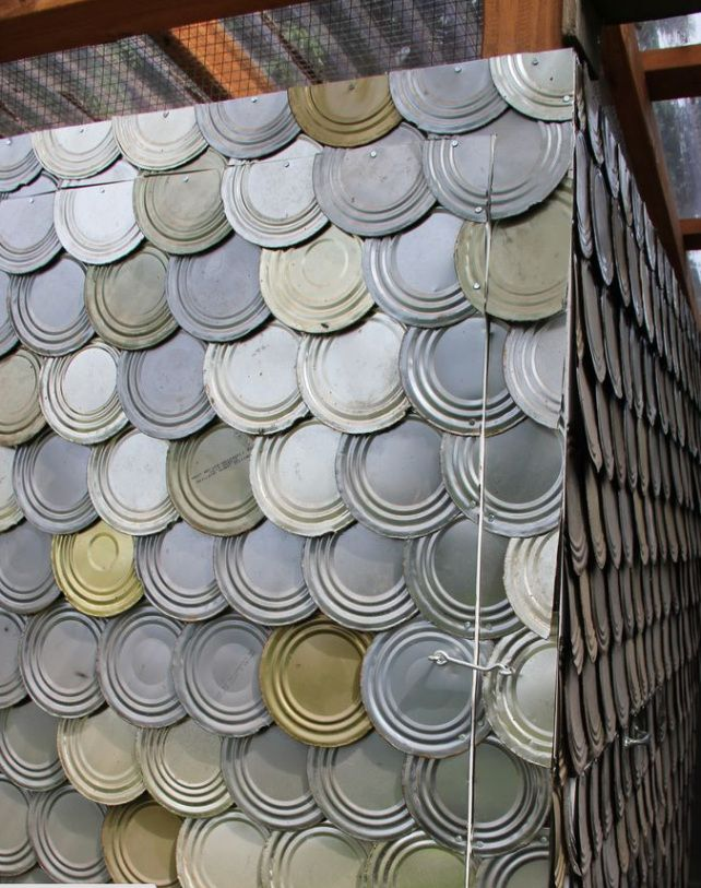 20 Amazing Recycled Wall Ideas Tin Can Lid Wall