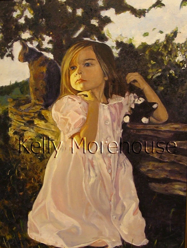 Kelly Morehouse was born in Newfoundland and raised in both the USA and Canada. She studied art at NSCAD University and now works from her hobby farm in Nova Scotia where she lives with her husband and daughter. Her work, for which she has won several awards, has been added to a number of private collections. She is a member of the Portrait Society of Canada, Visual Arts Nova Scotia, CARFAC and the Hants County Arts Council.