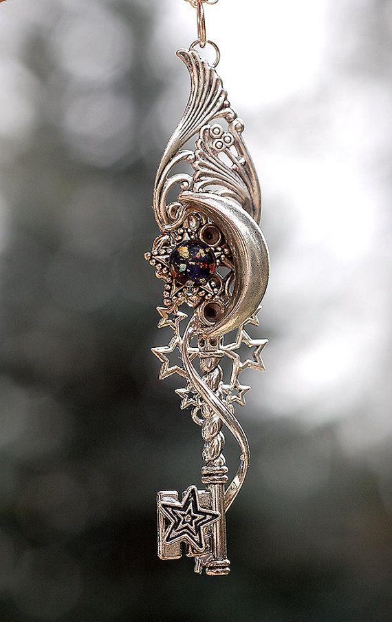 Worlds Apart Key Necklace by KeypersCove on Etsy
