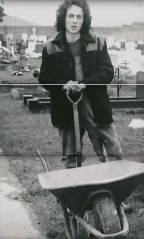 'Punk Rock Warlord' Joe Strummer in his pre-Clash early twenties, when he was still a part-time grave digger at Newport, South Wales, ca.1973 (image edited from still frames.off Julien Temple's 2007 documentary, as it aired on Arte Channel).