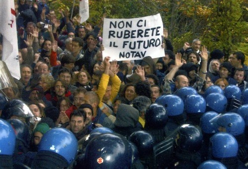 """M5S and SEL members declared their intention to undertake a """"parliamentary inspection"""" of activity at the building site of the TAV. It is expected that 76 out of M5S' 162 deputies and senators together with 12 from SEL will attend.  Grillo has said that the M5S will take part but will not condone any illegal act, and will report any to the police, in line with the principles of the M5S movement.  The endorsement of the NoTAV demonstration by M5S has generated much discussion. [2013-03-21]"""