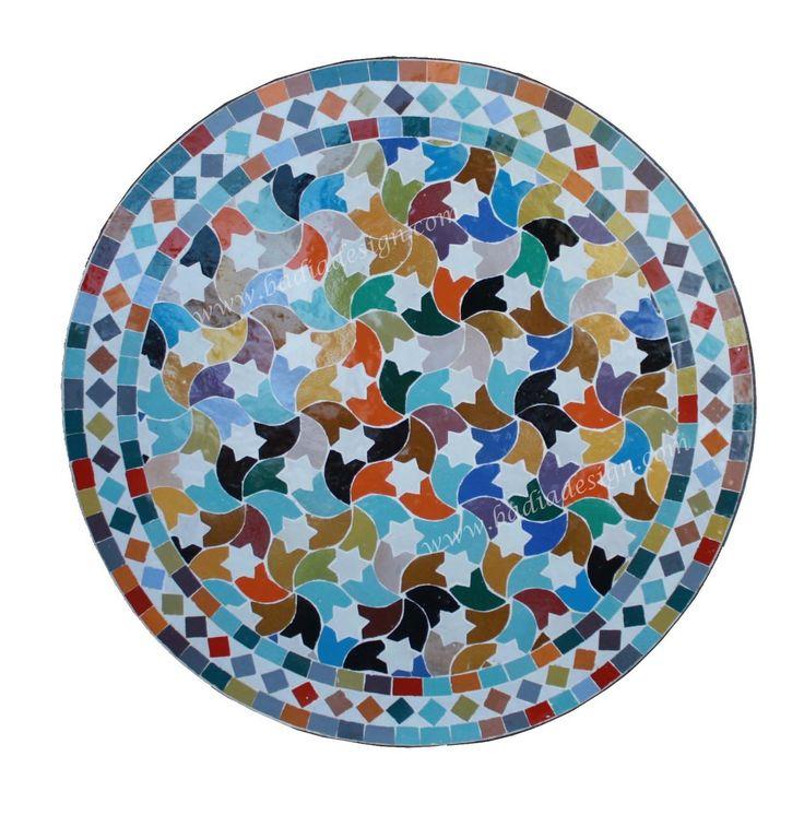 Badia Design Inc Store - 24 Inch Round Moroccan Tile Table Top - MTR237, $270.00 (http://www.badiadesign.com/24-inch-round-moroccan-tile-table-mtr237/)