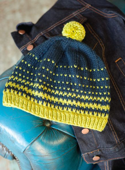 Slip Stitch Knit Hat Pattern : 17 Best images about christmas yarns on Pinterest Fair isles, Free pattern ...