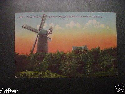 dutch Windmill golden gate park San Francisco California CA Postcard view