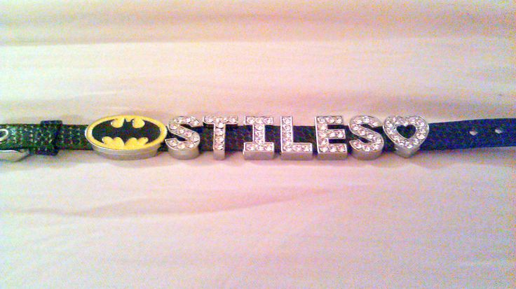 Teen Wolf Werewolf Name Crystal Letter Charm Bracelet- Stiles Stilinski by WitchcraftsGifts on Etsy