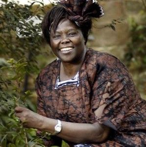 Wangari Maathai:  Founder of the Green Belt Movement, organizing women in rural Kenya to plant trees & giving them valuable training & education