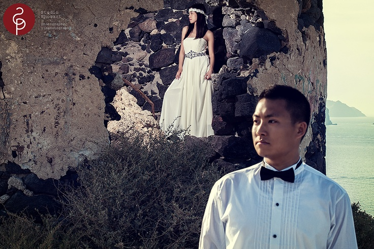 The lovely couple had traveled from Hong kong here in Santorini to share the most important day of their lives on Greece's most breathtaking and romantic Island.   The love story of this amazing couple will be soon on our wedding blog http://www.photographergreece.com/index.php/istories-gamon-vaptiseon-gr/istories-gamon-gr/98-the-amazing-love-story-of-roy-mika  #wedding #greece #santorini #photographer #lovestory #marriage #bride