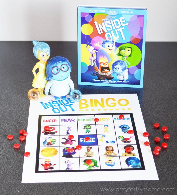 Free Printable Inside Out Bingo to play at an Inside Out Party! #InsideOutMovieNight #ad