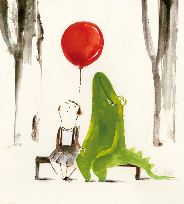 Patricia Metola: Imaginary Friends, Art Illustrations, Little Red, Art Inspiration, Crocodile, Children Illustrations, Red Balloon, Super Cute, Patricia Metola