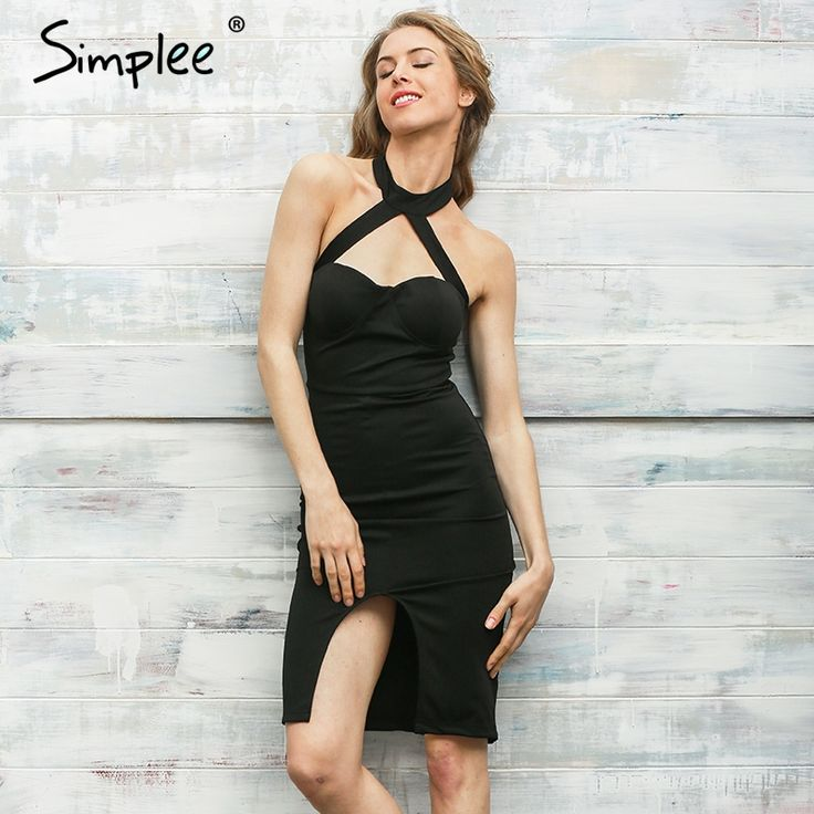 Simplee Elegant halter bandage dress     Tag a friend who would love this!     FREE Shipping Worldwide | Brunei's largest e-commerce site.    Get it here ---> https://mybruneistore.com/simplee-elegant-halter-pink-bandage-dress-women-sexy-front-split-evening-party-bodycon-dresses-strapless-club-vestidos/