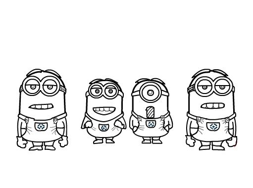how to draw and coloring minions new coloring pages